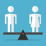 Man and woman equilibrium stock illustration