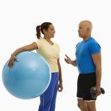 Man and woman exercising. Royalty Free Stock Photo