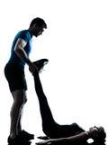 Man woman exercising workout fitness Stock Image
