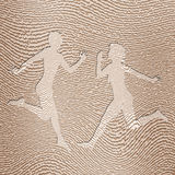 Man and woman in fingerprint. Figure of man and woman impress in fingerprint Stock Photography