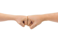 Man and woman fists Royalty Free Stock Images