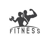 Man and woman of fitness  character vector design  Stock Photography