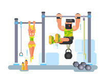 Man and woman fitness Royalty Free Stock Images
