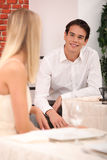 Man and woman flirting Royalty Free Stock Images