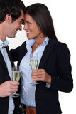 Man and woman flirting Royalty Free Stock Photos