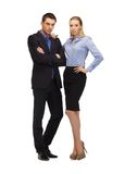 Man and woman in formal clothes Royalty Free Stock Photography