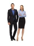 Man and woman in formal clothes Royalty Free Stock Photo