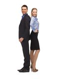 Man and woman in formal clothes Royalty Free Stock Images