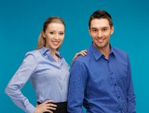 Man and woman in formal clothes Royalty Free Stock Photos