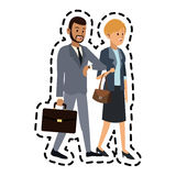 man and woman friends icon image Stock Image