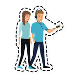 man and woman friends icon image Stock Photography