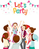 Man And Woman Fun In Party. Party Corporate Party Banquet Feast Company Celebration Stock Image