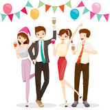 Man And Woman Fun In Party With Drink. Party Corporate Party Banquet Feast Company Celebration Royalty Free Stock Photo