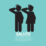 Man And Woman Gave The Salute Gesture Royalty Free Stock Image