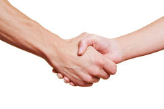 Man and woman giving handshake Stock Image