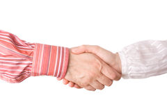 Man and woman giving a handshake Royalty Free Stock Photo