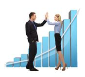 Man and woman giving a high five Royalty Free Stock Images