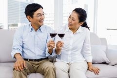 Man and woman with glasses of wine Royalty Free Stock Photography