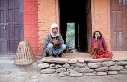 Man and woman from Gorkha District, Nepal Stock Photos