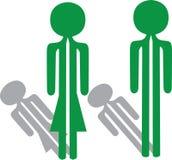 Man woman green Stock Image