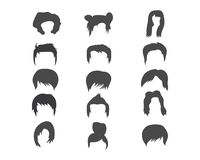 Man and woman hairstyle element icon vector illustration. Design stock illustration
