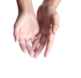 Man and woman hands Royalty Free Stock Photo