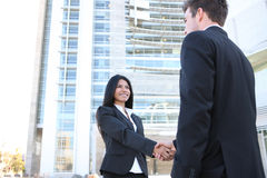 Man and Woman Handshake Royalty Free Stock Image