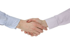 Man and woman handshake Royalty Free Stock Photo