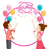 Man And Woman Happy With Party Decoration. Party Corporate Party Banquet Feast Company Celebration Stock Photography