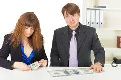 Man and woman have different wages Royalty Free Stock Images