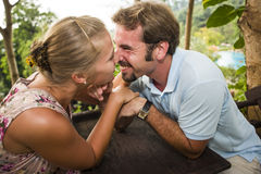 Man and woman have fun Stock Photography