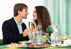 Man and woman having romantic dinner Stock Photography