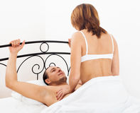 Man and woman having sex Royalty Free Stock Image
