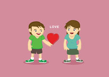 Man and woman with heart shape between them Royalty Free Stock Photo