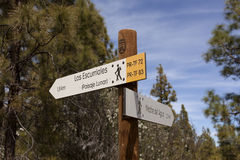 Man and woman hikers trekking in summer mountains. Royalty Free Stock Photography
