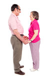 Man and woman holding each others hand Royalty Free Stock Image