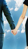 Man and woman holding hands. Man and women holding hands . background Royalty Free Stock Image