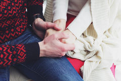 Man and woman holding hands Royalty Free Stock Photo
