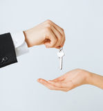 Man and woman with house keys Royalty Free Stock Photos