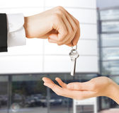 Man and woman with house keys Royalty Free Stock Image
