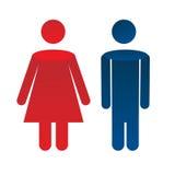 Man woman icon. Vector illustration Royalty Free Stock Photos