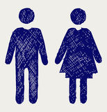 Man and woman icon Stock Images