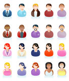 Man and woman icon avatar. Illustrations of variety business man and business woman icon avatar on  white background Stock Photo