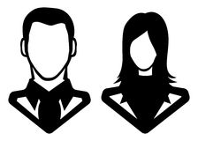 Man and woman icon - avatar. Vector illustration of the Man and woman icon - avatar Royalty Free Stock Image