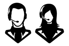 Man and woman icon - avatar Stock Images