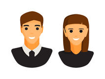 Man and woman icon Stock Photography