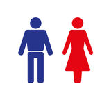 Man and woman icon. Isolated On a White Background Stock Photos