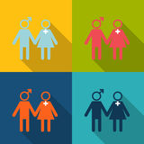 Man and woman icon Modern style. Royalty Free Stock Photos