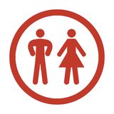 Man and Woman Icon on white background. Vector illustration Stock Image