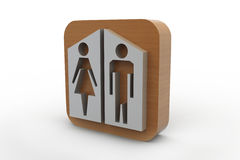 Man and woman icons Royalty Free Stock Photography